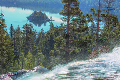 Photograph - Waterfall And Fannette Island by Marc Crumpler