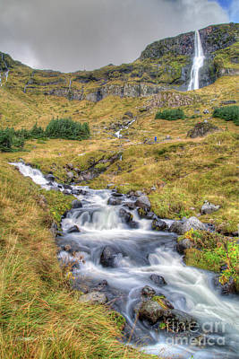 Photograph - Waterfall And Stream Near Budir, Iceland by Gordon Wood