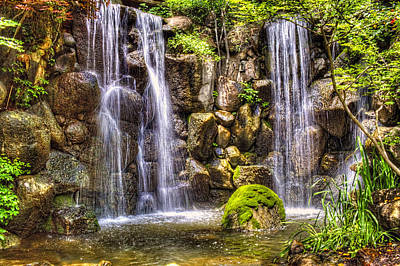 Photograph - Waterfall Anderson Japanese Gardens by Roger Passman