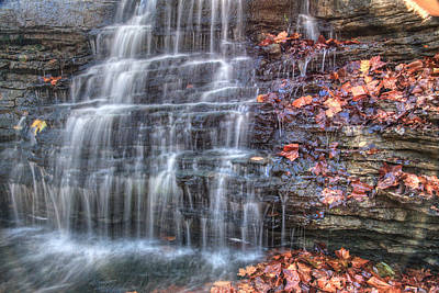 Photograph - Waterfall At Cascades State Park by Walt Sterneman
