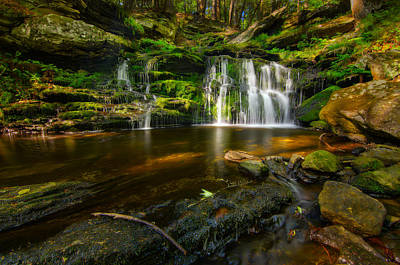 Waterfall At Day Pond State Park Art Print