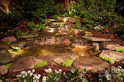 Photograph - Waterfall At Night by Kevin McCarthy