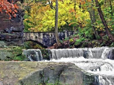 Photograph - Waterfall At Olmsted Falls - 1 by Mark Madere