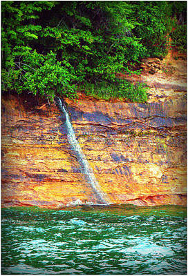 Photograph - Waterfall At Painted Rocks by Jeff Kurtz