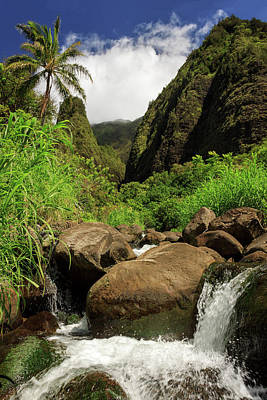 Photograph - Waterfall At The Iao Needle by James Eddy