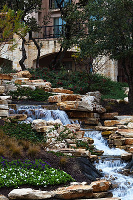 Photograph - Waterfall At The J.w. Marriott by Ed Gleichman