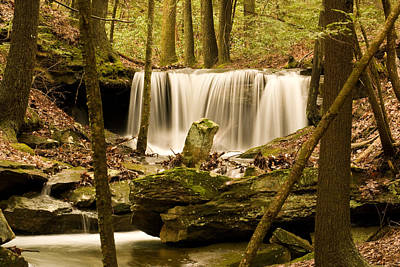 Deluge Photograph - Waterfall At The Ruins by Douglas Barnett