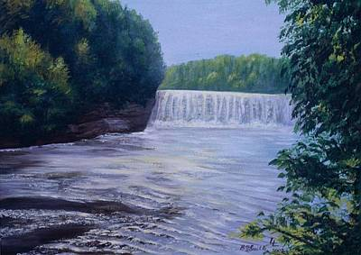 Painting - Waterfall by Barbel Smith
