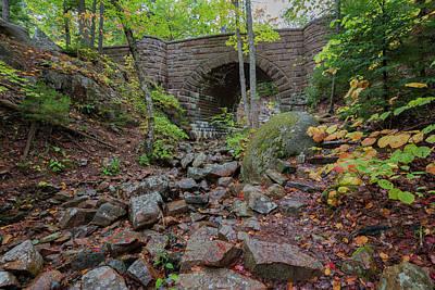 Photograph - Waterfall Bridge by Gary Lengyel