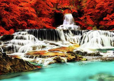 Ice Melting Painting - Waterfall Bridge by Russ Harris