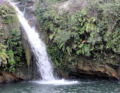 Meditative Photograph - Waterfall by Carmen Cordova
