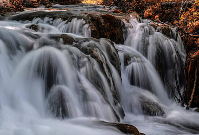 Photograph - Waterfall Cascades by Jaroslaw Blaminsky