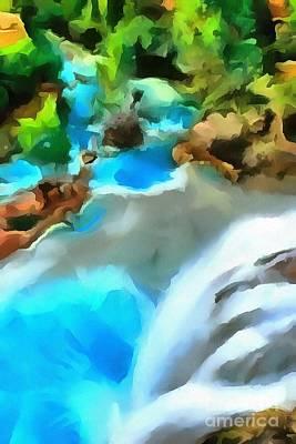 Waterfall Cascading Art Print