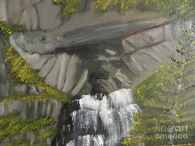 Painting - Waterfall Cave by Pamela Meredith