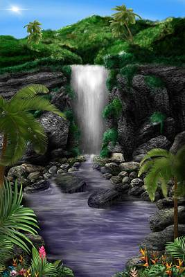Digital Art - Waterfall Creek by Mark Taylor