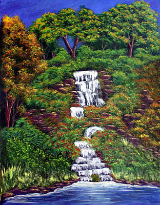 Painting - Waterfall by Dawn Blair