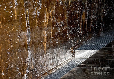 Digital Art - Waterfall Droplets by Georgianne Giese