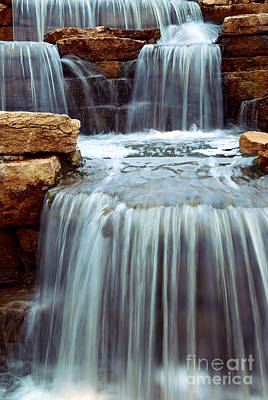 Landscapes Royalty-Free and Rights-Managed Images - Waterfall cascade by Elena Elisseeva
