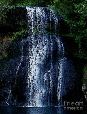 Art Print featuring the photograph Waterfall by Erica Hanel