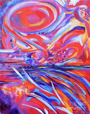 Painting - Waterfall by Expressionistart studio Priscilla Batzell