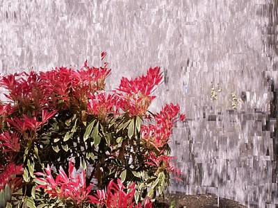 Abstract Tiles Photograph - Waterfall Flowers by Tim Allen