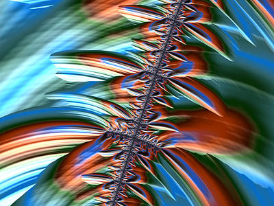 Digital Art - Waterfall Fractal 2 by Bonnie Bruno
