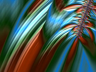 Digital Art - Waterfall Fractal by Bonnie Bruno