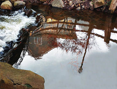 Waterfall From Calm Waters Art Print