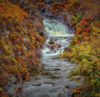 Waterfall #g8 Art Print