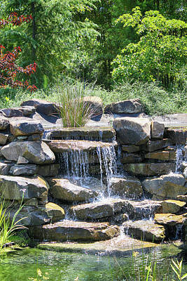 Photograph - Waterfall Garden View 54 by Carlos Diaz