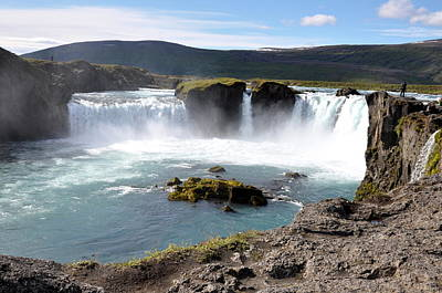Photograph - Waterfall - Godafoss by Ambika Jhunjhunwala