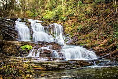 Photograph - Waterfall High In The Smokies by Debra and Dave Vanderlaan