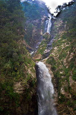 Photograph - Waterfall Highlands Of Guatemala 1 by Douglas Barnett