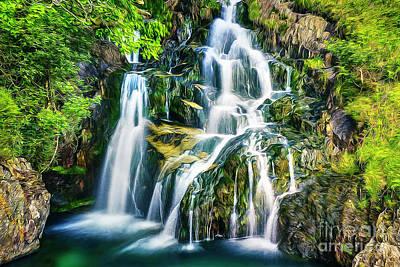Mixed Media - Waterfall by Ian Mitchell