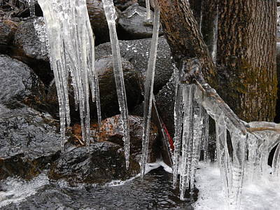Photograph - Waterfall Icicles In May by Kent Lorentzen