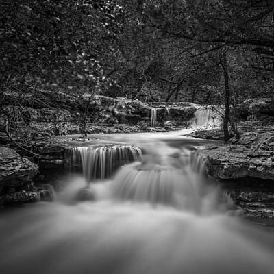 Photograph - Waterfall In Austin Texas - Square by Todd Aaron