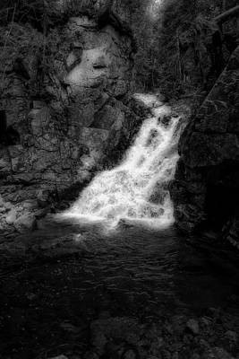 Photograph - Waterfall In Black And White by Sherman Perry