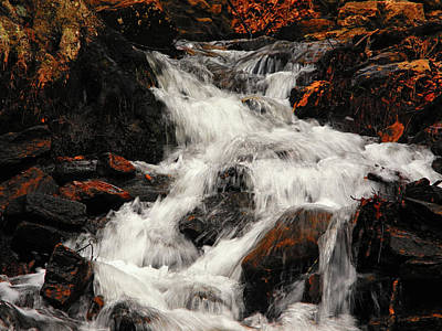 Photograph - Waterfall In Caledonia State Park by Raymond Salani III