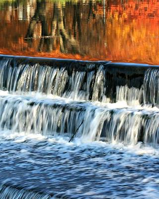 Photograph - Waterfall In Downtown Waukesha by Jeanette Fellows