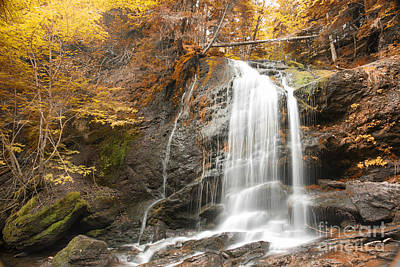 Photograph - Waterfall In Fundy National Park New Brunswick Canada by Nick Jene