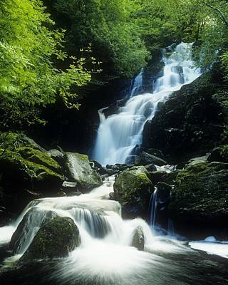 Waterfall In Killarney National Park Art Print by The Irish Image Collection