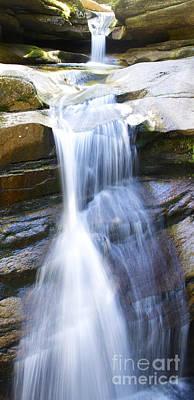Waterfall In Nh Art Print by Michael Mooney