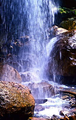 Waterfall In Tennessee Art Print by Lori Miller