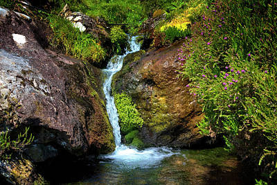 Photograph - Waterfall In The Mountains Of Ireland by Debra and Dave Vanderlaan