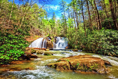 Photograph - Waterfall In The Smoky Mountains by Debra and Dave Vanderlaan