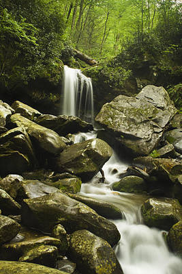 Waterfall In The Spring Art Print
