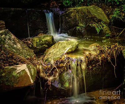 Photograph - Waterfall In Twilight  by Peggy Franz