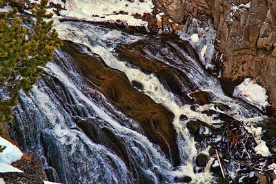 Photograph - Waterfall In Yellowstone by C Sitton
