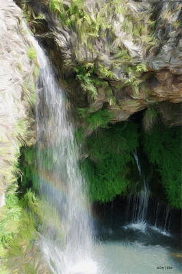 Rainbows Digital Art - Waterfall by Jeff Kolker