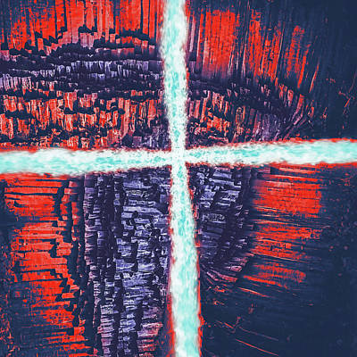 Digital Art - Waterfall Jesus Two by Payet Emmanuel